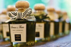 Bespoke labels for weddings, Oro Don Vincenzo extra virgin olive oil